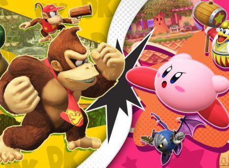 Super Smash Bros. Ultimate: svelato l'arrivo del torneo: DK vs. Kirby!