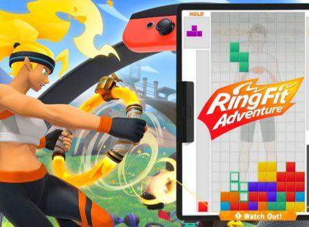 Tetris 99: uno sguardo in video all'undicesimo Grand Prix a tema Ring Fit Adventure