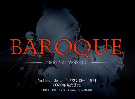 Baroque: Original Version in arrivo nel corso del 2020 sui Nintendo Switch nipponici