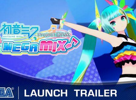 Hatsune Miku: Project Diva MegaMix, pubblicato il trailer di lancio su Nintendo Switch