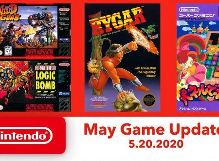 Nintendo Switch Online: annunciato l'arrivo dei nuovi titoli SNES e NES il 20 maggio