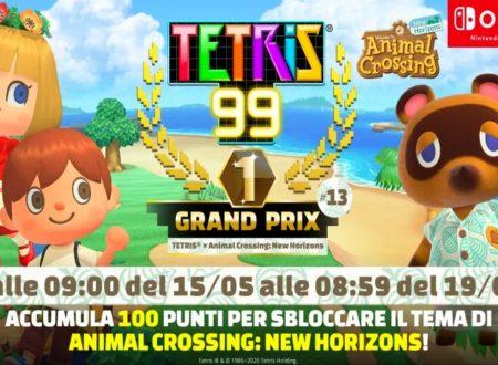 Tetris 99: uno sguardo in video al tredicesimo Grand Prix a tema Animal Crossing: New Horizons