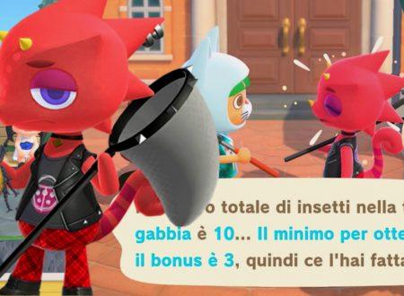 Animal Crossing: New Horizons, uno sguardo in video all'evento dell'Insettomania