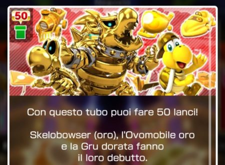 Mario Kart Tour: Skelobowser oro è ora disponibile nel tubo dorato in evidenza