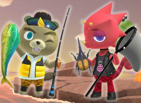 Animal Crossing: New Horizons, uno sguardo agli insetti e pesci catturabili nel mese di luglio