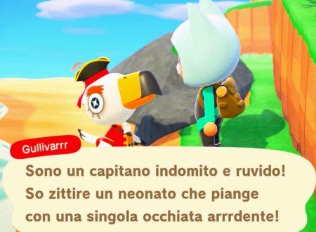 Animal Crossing: New Horizons, uno sguardo in video a Gullivarrr, il nuovo NPC introdotto nel titolo