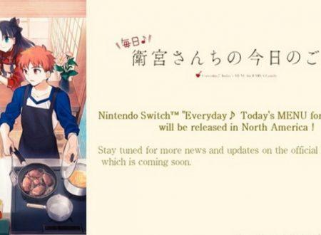 Everyday Today's Menu for the Emiya Family, annunciato l'arrivo dello spin-off culinario di Fate/Stay Night in Occidente