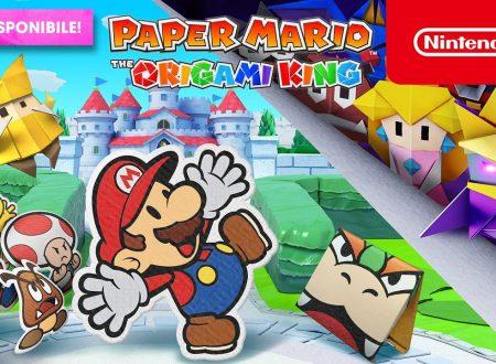 Paper Mario: The Origami King, pubblicato il trailer di lancio del titolo su Nintendo Switch