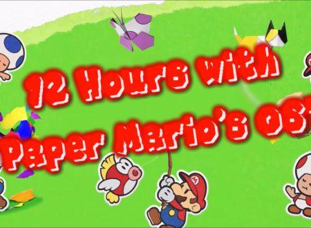 Paper Mario: The Origami King, un video di 12 ore con le OST del titolo in attesa del lancio sui Nintendo Switch europei