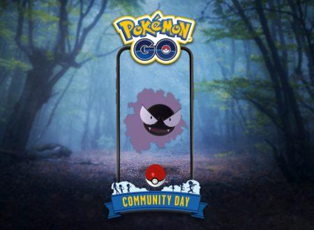 Pokèmon GO: Gastly sarà protagonista del Community Day del mese di luglio 2020