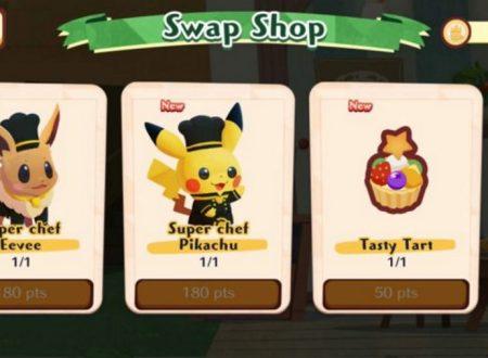 Pokémon Cafe Mix: un aggiornamento introduce due nuove unità, Super Chef Pikachu e Eevee