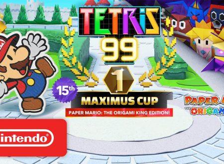 Tetris 99: svelato l'arrivo del quindicesimo Grand Prix a tema Paper Mario: The Origami King