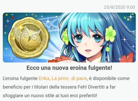 Fire Emblem Heroes: svelato l'arrivo del nuovo eroe fulgente, Erika, La principessa di pace
