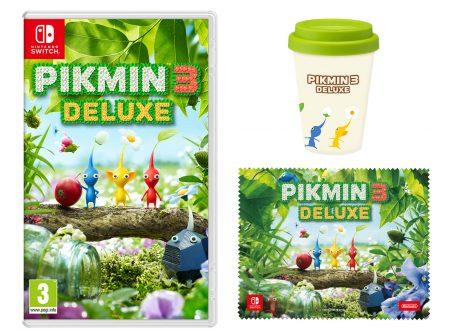 Pikmin 3 Deluxe: il titolo ora in pre-order con una tazza di caffè e un panno in microfibra