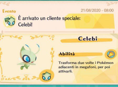 Pokémon Cafe Mix: svelato l'arrivo di nuovi stage evento con Celebi come protagonista