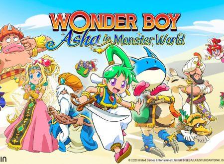 Wonder Boy: Asha in Monster World, pubblicato il trailer di debutto del titolo