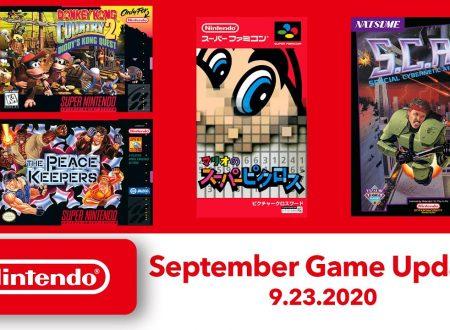 Nintendo Switch Online: annunciato l'arrivo dei nuovi titoli SNES e NES del 23 settembre