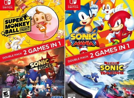 Sonic Forces + Super Monkey Ball: Banana Blitz HD e Sonic Mania + Team Sonic Racing Double Pack in pre-order su Amazon