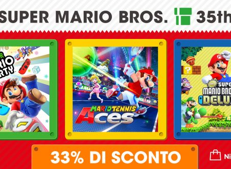 Nintendo Switch: Super Mario Party, Mario Tennis Aces e New Super Mario Bros. U Deluxe in sconto per il 35° anniversario di Mario