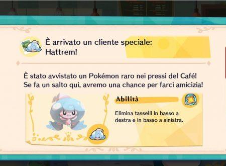 Pokémon Cafe Mix: svelato l'arrivo di nuovi stage evento con Hattrem come protagonista