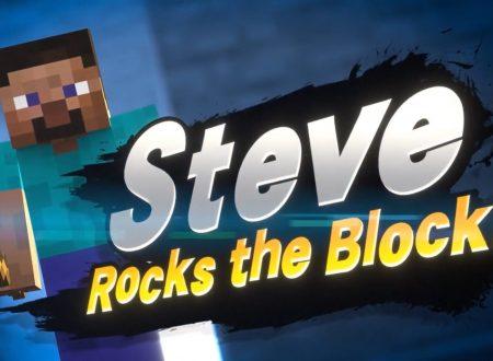 Super Smash Bros. Ultimate: Steve e Alex di Minecraft saranno i nuovi personaggi DLC del roster