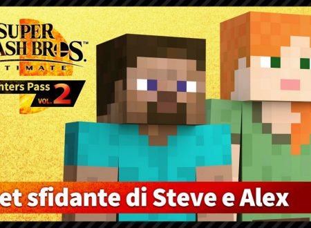 Super Smash Bros. Ultimate: uno sguardo in video gameplay al DLC di Minecraft con Steve e Alex