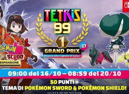 Tetris 99: svelato il diciassettesimo Grand Prix con il ritorno del tema di Pokèmon Spada e Scudo