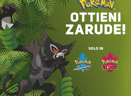 Pokémon Spada e Scudo: svelato il metodo di ottenimento di Zarude dal sito di Gamestop