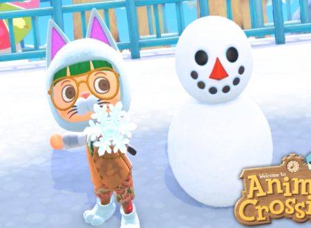 Animal Crossing: New Horizons: uno sguardo in video a Pallino e i pupazzi di neve