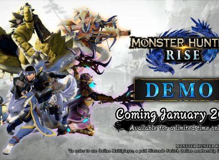 Monster Hunter Rise: nuovo trailer e annunciato l'arrivo di una demo ai The Game Awards 2020