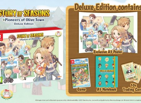 STORY OF SEASONS: Pioneers of Olive Town, svelato l'arrivo di una Deluxe Edition