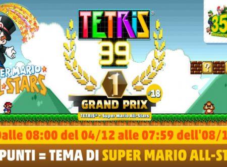Tetris 99: uno sguardo al diciottesimo Grand Prix a tema di Super Mario All-Stars