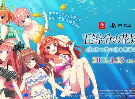 The Quintessential Quintuplets ∬: Natsu no Omoide mo Gotoubun, la visual novel in arrivo il 25 marzo sui Nintendo Switch giapponesi