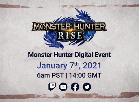 Monster Hunter Rise: annunciato l'arrivo di un Digital Event il prossimo 7 gennaio