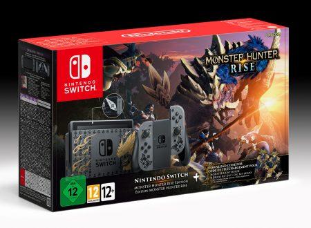 Monster Hunter Rise: annunciato un bundle con Nintendo Switch, Kit Deluxe DLC e contenuti bonus