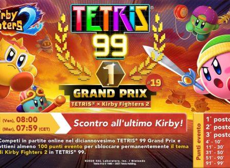 Tetris 99: svelato il diciannovesimo Grand Prix con in palio il tema di Kirby Fighters 2