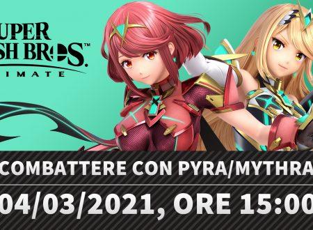 Super Smash Bros. Ultimate: il video della diretta di Sakurai su come combattere con Pyra e Mythra