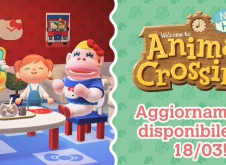 Animal Crossing: New Horizons, svelato l'arrivo di un nuovo aggiornamento il 18 marzo