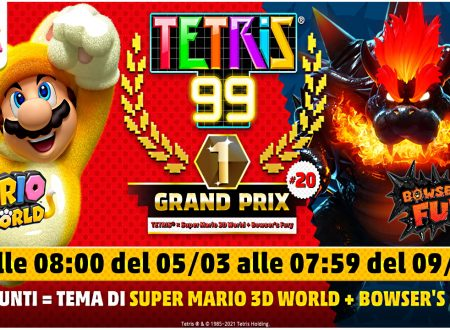 Tetris 99: uno sguardo al ventesimo Grand Prix a tema di Super Mario 3D World + Bowser's Fury