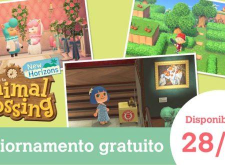 Animal Crossing: New Horizons, svelato l'arrivo di un nuovo aggiornamento il 28 aprile