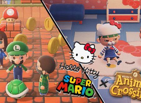 Animal Crossing: New Horizons, uno sguardo in video agli oggetti di Super Mario e Hello Kitty di Sanrio