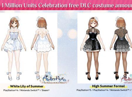 Atelier Ryza: svelato l'arrivo di due speciali costumi DLC per il milione di copie raggiunto