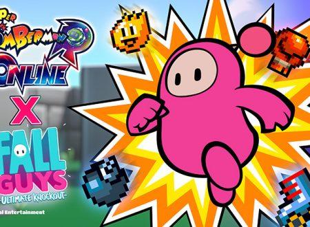Fall Guys: Ultimate Knockout, annunciati nuovi costumi in collaborazione con Super Bomberman R Online