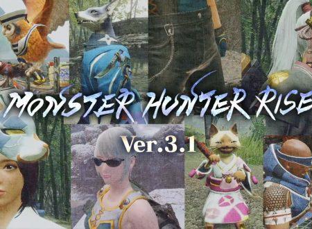 Monster Hunter Rise: la versione 3.1.0 è in arrivo il 24 giugno sui Nintendo Switch europei