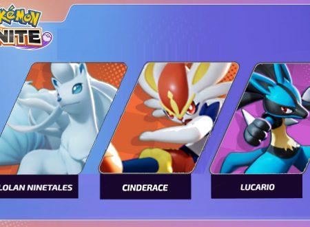 Pokémon UNITE: un video gameplay ci mostra in azione Ninetales Alola, Cinderace e Lucario