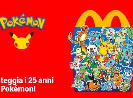 Festeggia i 25 anni dei Pokémon con il ritorno dei mostriciattoli tascabili negli Happy Meal