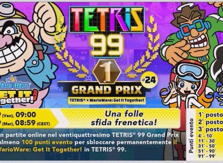 Tetris 99: uno sguardo in video al ventiquattresimo Grand Prix con in palio il tema di WarioWare: Get It Together!