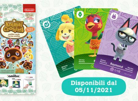 Animal Crossing: New Horizons, la serie 5 delle amiibo card è in arrivo il 5 novembre